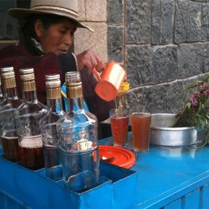 Where you can taste Peruvian emoliente tea?