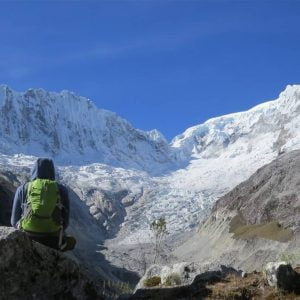 The trail to Yanapaccha Summit In Cordillera Blanca