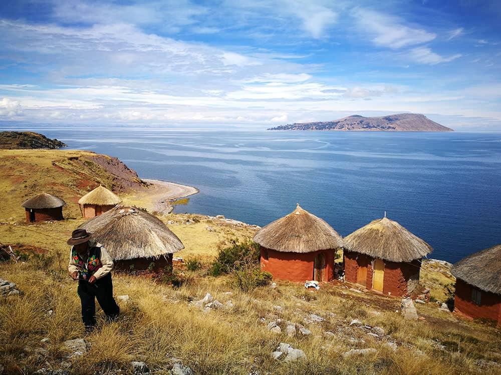 Einzigartige Inseln des Titicacasees