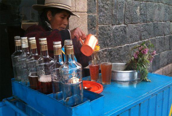 Emoliente street Cusco Peru