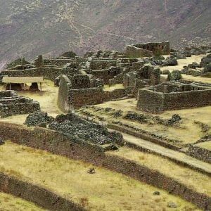 The Ruins of Pisac Near Cusco