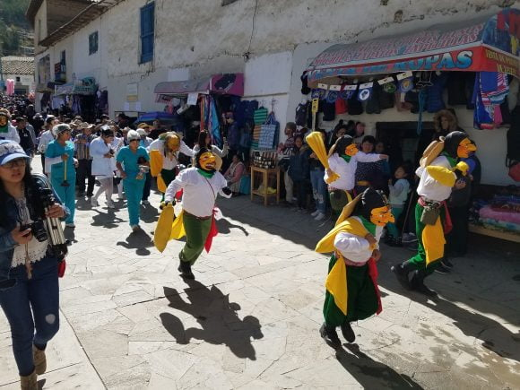 Danza Chucchu characters in Paucartambo St. carmen festival