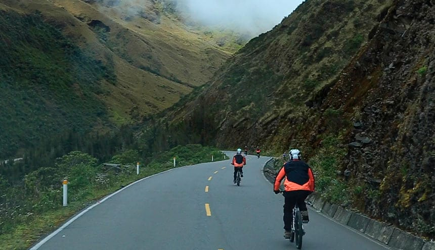 inca jungle biking time