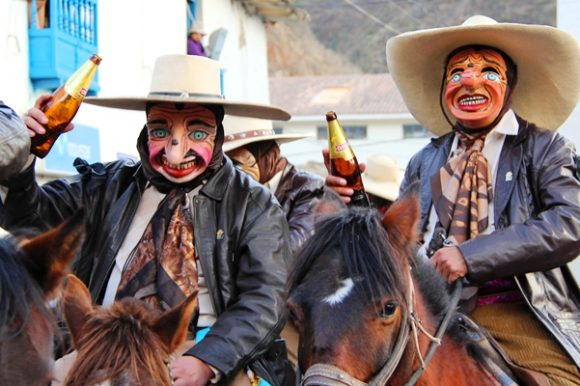Majeno characters in Paucartambo St. carmen festival