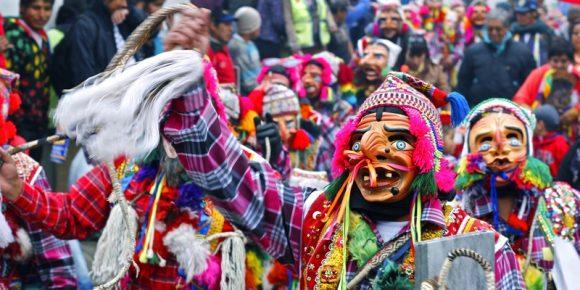 Maqta characters in Paucartambo St. carmen festival