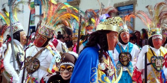 Qhapaq Chuncho characters in Paucartambo St. carmen festival